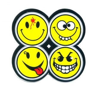 Funny Face Emoticon Angry Punk Smile Motorcycle Car Van Truck Decal Sticker Z104