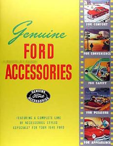 1949 Ford Car and Truck Accessories Sales Catalog 49 Color Accessory Brochure