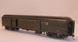 HO Brass PSC Rutland Railway 60' Double Door Baggage Car 130 Custom Painted