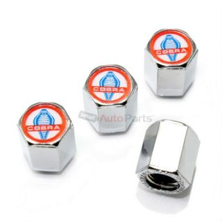 4 Ford Mustang Shelby Cobra GT Logo Chrome ABS Tire Wheel Car Stem Valve Caps