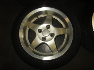 Honda Civic CRX Acura Integra JDM Lorber 4x100 15x7 JJ Wheels Rims Wheel Rim