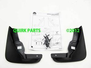 2008 2013 Dodge Challenger Front Rea Molded Splash Guards Mopar Genuine OE New