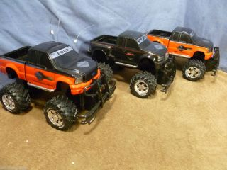 3 Nikko R C F 150 Harley Davidson Edition 3 Trucks Lot Untested Parts or Repair