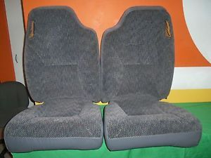 Dodge RAM Truck 1500 2500 Front Seat Cushion and Cover 99 Gray Cloth 99
