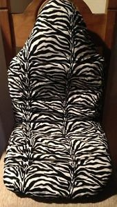 REDUCED Black White Zebra Print Toddler Car Seat Booster Seat Cover
