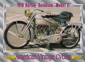 Vintage 1916 Harley Davidson Motorcycle Model 11 61 CU in Twin Cylinder RARE