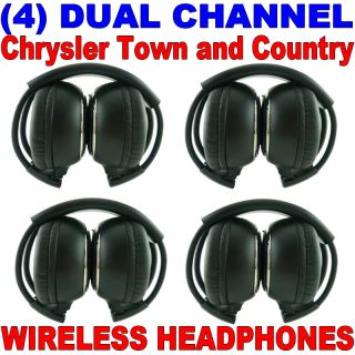 4 New Chrysler Town Country Wireless Dual Channel DVD Premium Car Headphones