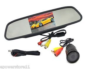 "4 3"" TFT LCD Car Monitor Mirror Car Reversing Camera Night Vision Waterproof"