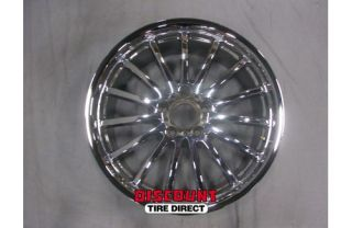 4 Used Staggered 18x8 5 18x9 5 5 112 5x112 Chrome Mandrus Wheels Rims No Caps