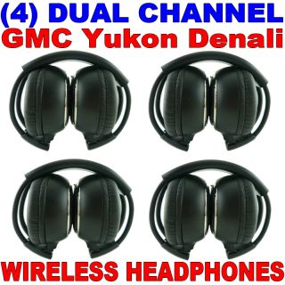4 New GM GMC Yukon Denali Wireless Dual Channel DVD Premium Car Headphones