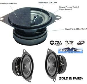 2 75 Car Speakers Front Dash Jeep Chrysler Dodge 60W 4ohm 6275CH F