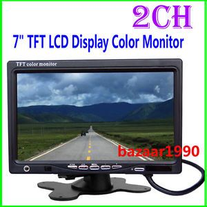 "Mini 7"" TFT LCD Display Color Monitor 2CH Video Input"