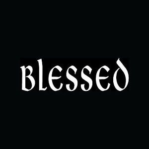 Blessed Sticker Religious Christian Jesus God Car Decal