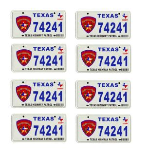 1 43 Scale Model Texas Highway Patrol Police Car License Tag Plates