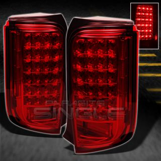 08 10 Scion XB BB Sport JDM Red Lens Full LED Tail Lights Lamps Pair Left Right