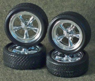 1 25 Scale Model Car Parts Junk Yard Lowprofile Tires Custom Wheels Disc Brake