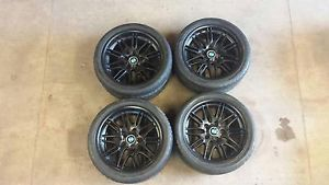 BMW M5 E 39 97 03 M5 Black Alloy Wheels and Tires Pirelli Tires