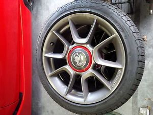 Used Like New Fiat 500 Abarth Factory Wheels Pirelli Tires 195 45R16 w TPMS