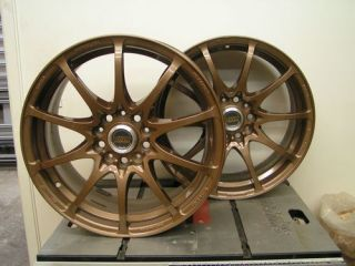 JDM Rays Volk Racing CE28 17x7 5 Forged Monoblock 5x112 VW Audi Wheels Rims Gold