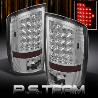 Chrome 02 06 Dodge RAM 1500 2500 3500 Pickup Truck LED Tail Lights Brake Lamps