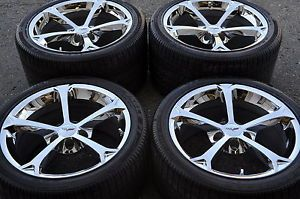 Corvette Grand Sport Chrome Wheels Rims Tires Factory Wheels 18x9 5 19x12
