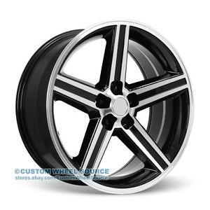 "20"" IROC VW248 Black Rims for Chrysler Chevrolet Dodge Ford Wheels"