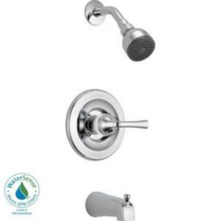 Delta Foundations Single Handle Tub and Shower Faucet in Chrome B114900