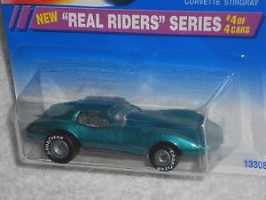Hot Wheels 1995 Real Riders Series 4 4 Corvette Stingray 321 Green