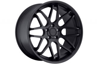 "20"" Ford Mustang GT Eurotek UO6 Matte Black Concave Staggered Rims Wheels"