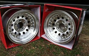 Wheels American Racing Outlaw II 62 5861 15x8 Hot Rod Rat Rod Chevy Ford Dodge