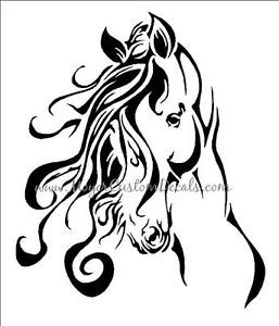 Large Horse Trailer Decal Sticker Beautiful Horse Head You Choose Color