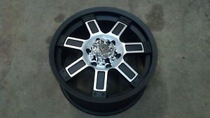 "18"" Granite Alloy GA12 Vrock Diesel Black Machined Wheel 18x9 6x5 5 30mm"