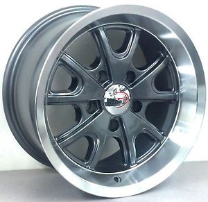 "15"" Elinore Style Staggered Wheels 15x7 Front 15x8 Rear Muscle Car Rims"