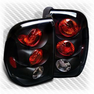 02 09 Chevy Trail Blazer Black Tail Lights Lamps Rear Brake Pair Left Right Set