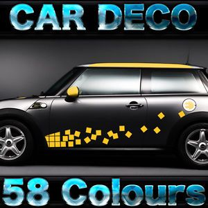 BMW Mini Cooper Racing Side Graphic Kit Decal by Cardeco V1