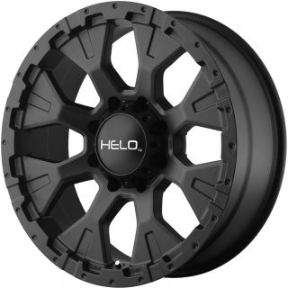 "20x9"" Black Helo 878 Wheels Rims Ford F250 F350 Super Duty Excursion King Ranch"