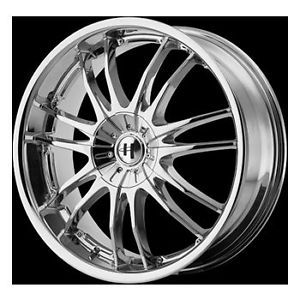 "17"" Helo 845 Wheel Set Rims Chrome Chevy Dodge Nissan Mercedes BMW 5LUG Vehicles"