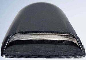 Carbon Fiber RAM Air Tunnel Car Truck Hood Scoop Functional Mesh Aluminum Intake