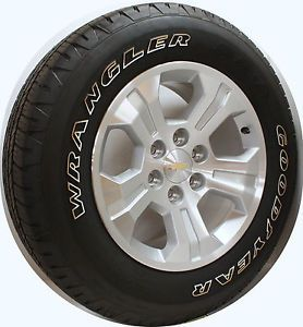 "2014 Chevy Z71 Silverado LTZ 18"" Wheels Rims Goodyear Owl Tires"