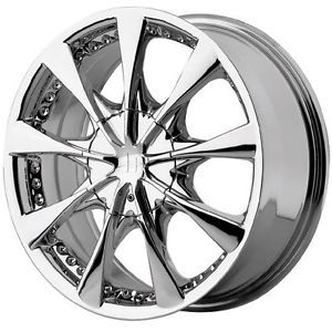 15 inch 15x7 Helo HE827 Chrome Wheels Rims 5x100 5 Lug