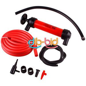 New Car Tire Oil Fuel Change Transfer Gas Liquid Pipe Siphon Tool Air Pump Kit