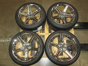 Staggered Mustang Saleen Style Wheel Sumitomo Tire Kit 18x9 10 94 98 All