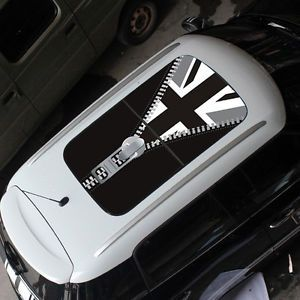 Mini Cooper Car Sun Roof British Flag Street Art Graffit Graphic Sticker Decal 4