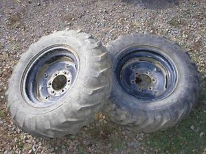 Power King Economy Tractor Mower 1618 Rear AG Lug Tires Rims Goodyear 7 50 16