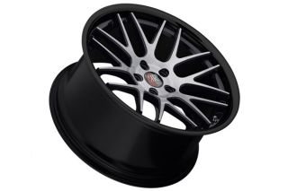 "20"" Mercedes Benz CL500 CL55 CL550 CL600 Roderick RW6 Concave Black Wheels Rims"