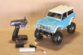 RC4WD 1 10 Rock Crawler RC Truck Ford Bronco Blue 2 4GHz RTR 90 Metal