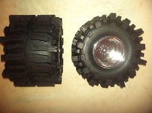 Clodbuster Clod Mud Tires Chrome Wheel Wheels Set of Four RC Remote Control Tire