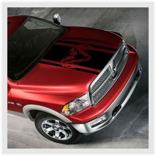 Dodge RAM Truck Hood Stripe Kit Vinyl Decal Sticker