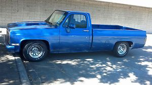 Chevy C10 Classic Chevy Lowered Truck Roll Pan Cowl Hood Blue Truck Pick Up