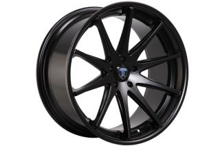 "22"" Cadillac cts V Coupe Rohana RC10 Concave Matte Black Staggered Wheels Rims"